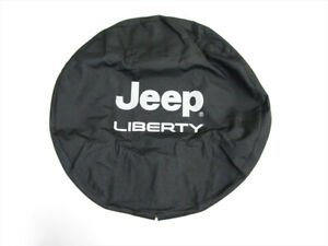 2002 2007 Jeep Liberty Tire Cover Bright Silver W Logo Mopar Genuine Oem