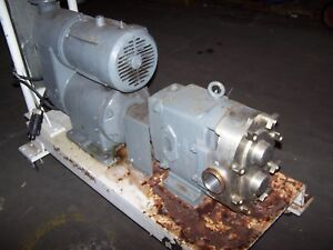 Waukesha 2 1 2 Threaded Stainless Displacement Pump 060 With Reeves Drive