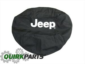 01 07 Jeep Wrangler Jeep Liberty Black Spare Tire Cover W Logo Genuine Mopar