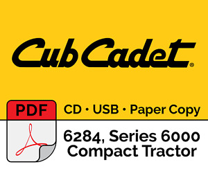Cub Cadet 6284 Series 6000 Compact Tractor Pdf Usb Cd Hard Copy