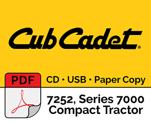 Cub Cadet 7252 Series 7000 Compact Tractor Pdf Usb Cd Hard Copy