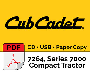Cub Cadet 7264 Series 7000 Compact Tractor Pdf Usb Cd Hard Copy