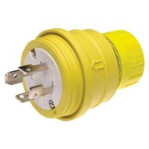 Woodhead 28w09 Watertite Wet Location Locking Blade Plug 4 Wires 4 Poles