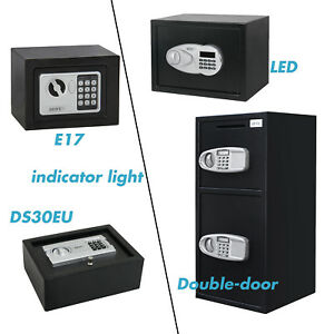 Digital Electronic Safe Box Drawer Gun Jewel Cash Vital Files Home Security Box