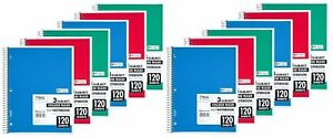 Mead Spiral Notebook 3 Subject College Ruled 120 Sheets 11 X 8 5 A New