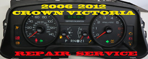 2006 2007 2008 2009 2010 Ford Crown Victoria Instrument Cluster Repair Service