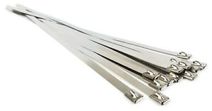 Stainless Steel Cable Ties Self Locking Heavy Duty Zip Ties 300lb Test Qty 25