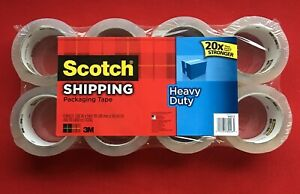 Scotch 8 Pack 40x Stronger Packing Tape Heavy Duty 1 88 X 54 6 Yards 3m