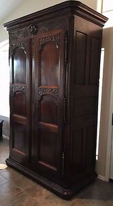 Antique Walnut French Country Armoire Louis Xv C1890