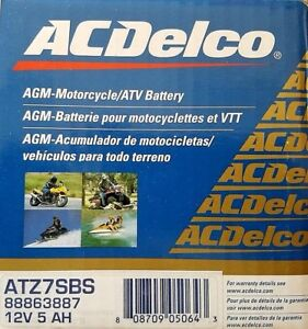 Acdelco Atz7sbs Specialty Agm Powersports Jis 7s Bs Battery