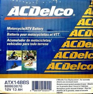 Acdelco Atx14bbs Specialty Agm Powersports Jis 14b Bs Battery