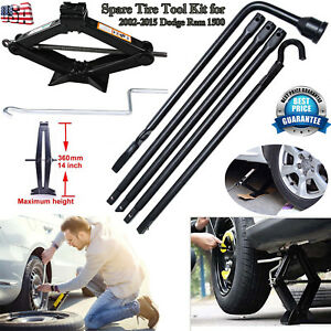 New Tools Kit For Dodge Ram 1500 Spare Tire Lug Wrench W Bag 2t Scissor Jack