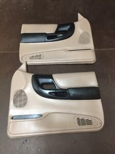 1995 2001 Ford Ranger Power Door Panels Tan W Black Set Oem Nice