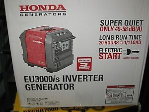 Honda Eu3000is Portable Generator New