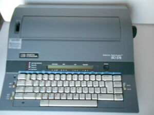 Smith Corona Sd275 Portable Electronic Wp Typewriter W cover Manual vgc