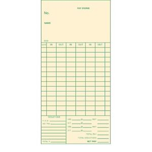 Time Cards 3 3 8 14 Day 6mm Form 5569 1000 Ct