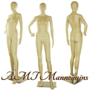 Female Display Mannequin metal Stand Egg Head Full Body Manikins fc 11f