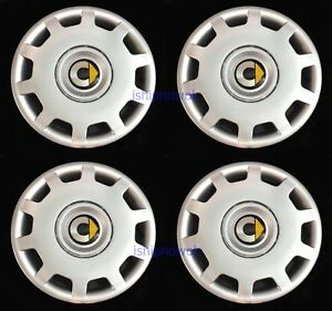 Set 4pcs Wheel Covers Fit 2008 15 Smart Car Fortwo 15 Hubcaps Silver New