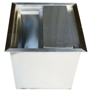 Restaurant Catering Ice Bin With Lid 15 7 15 7 Bar Supplies New