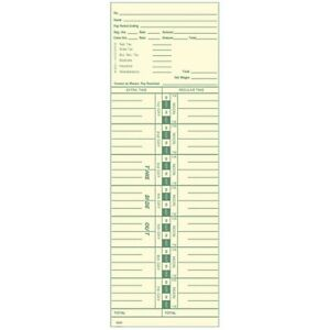 Side feed Weekly 1 7 Time Cards Form 3200 Box Of 1000