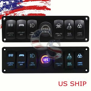 6 gang Toggle Switch Switch Metal Panel For Rv Car Marine Boat
