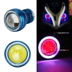 2 75 motorcycle Ccfl Halo Led Projector Headlight High Low Beam Angel Demon Eye