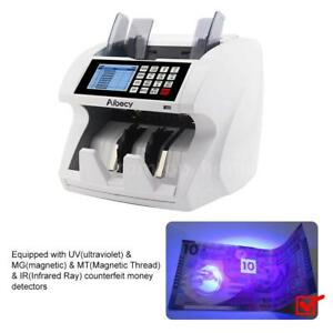Bank Money Currency Counter Fake Detector Cash Value Mix Counting Machine R4y4