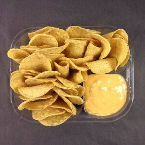 500 Count Disposable Nacho Trays Clear 2 Compartment Large 8 x6 x1 1 2
