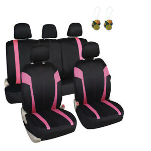 Auto Interior Accessories Car Seat Covers Full Set Pink For Women Girls