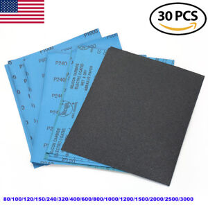 Wet Dry Sandpaper Sheets 9 X11 80 3000grit For Metal Sanding Automotive Polish
