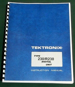Tektronix 230 Operating Manual W 11 x17 Foldouts Protective Covers