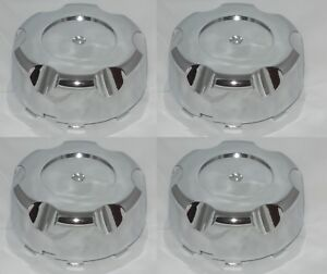 4 Cap Deal Ultra Cragar Pacer Unison 98 1244 Chrome Wheel Rim Center Cap No Logo