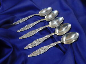 Whiting Lily Of The Valley Sterling Silver Teaspoon Nearly New No Monogram