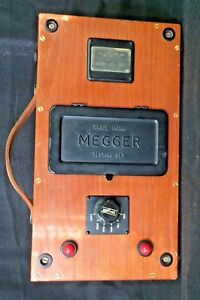 Vntg J G Biddle Co Megger Series 1 Insulation Tester Meter Voltage 2500 England