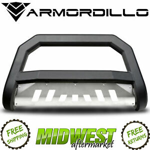 Armordillo Ar Series Bull Bar W Brushed Skid Plate For 2006 2008 Dodge Ram 1500