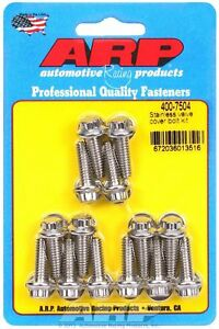 Arp 400 7504 Valve Cover Bolts Stainless 12 Point Cast Aluminum Covers 1 4 20