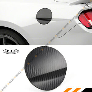 For 2015 18 Ford Mustang Carbon Fiber 3d Texture Add On Gas Fuel Door Cover Cap