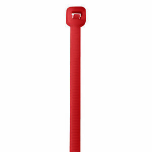 Box Partners Colored Cable Ties 50 14 Fluorescent Red 1000 case Ct145k