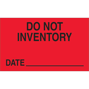 Tape Logic Labels do Not Inventory Date 3 X 5 Fluorescent Red 500 roll