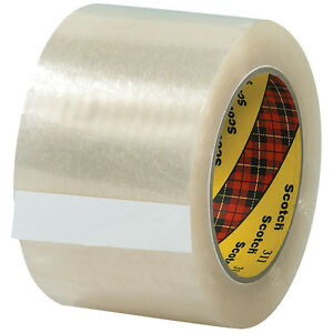 Scotch 3m 311 Carton Sealing Tape 2 0 Mil 3 X 110 Yds Clear 24 case T905311