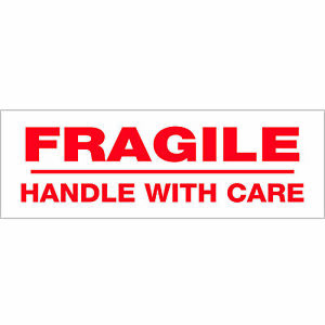 Tape Logic Pre printed Carton Sealing Tape fragile Handle With Care 2 2 Mil 3