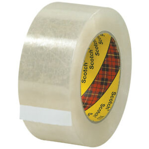 Scotch 3m 313 Carton Sealing Tape 2 5 Mil 2 X 110 Yds Clear 6 case T9063136pk