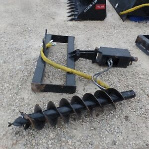 Bobcat Skid Steer Attachment Auger With 10 Bit Post Hole Usa Made