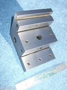 Angle Plate Vintage Stepped Hardened Usa Tooolmaker Fresh Grind Inspecting Mill