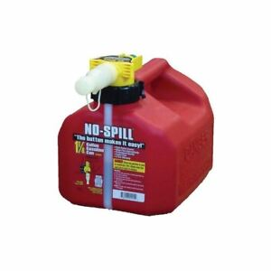 No spill 1 25 Gal Poly Gas Can Red Plastic