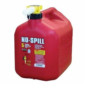 No spill 5 Gal Poly Gas Can carb And Epa Compliant Red Plastic