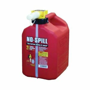 No spill 2 5 Gal Poly Gas Can carb And Epa Compliant Red Plastic