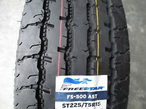 4 New St 225 75r15 Freestar All Steel Trailer Tires 12 Ply 2257515 75 15 R15