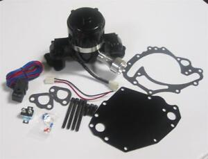 Small Block Ford Electric Water Pump High Volume Black 351c W Plate Relay Kit