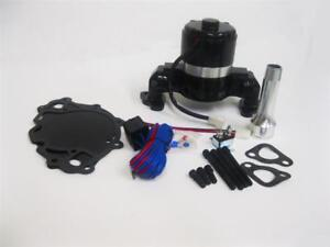 Small Block Ford Electric Water Pump High Volume Black 289 302 351w Realy Kit